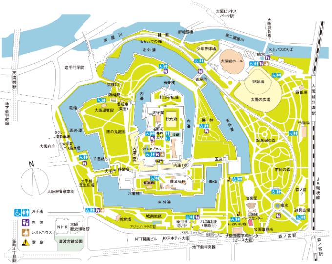 大阪城公園 地図